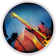 Hard Rock Guitar Round Beach Towel