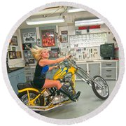 Harley Country Round Beach Towel