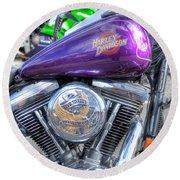 Harley Davidson 3 Round Beach Towel