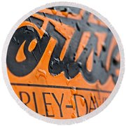 Harley Davidson Logo Round Beach Towel
