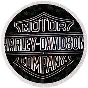 Harley Sign Round Beach Towel
