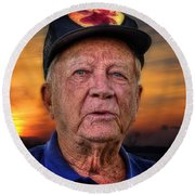 Harold In The Park Round Beach Towel