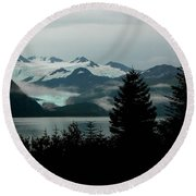 Harriman Glacier Round Beach Towel