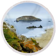 Harris Beach Round Beach Towel
