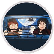 Harry And Ron Round Beach Towel
