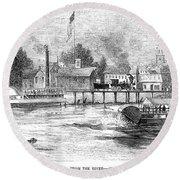 Hartford, 1853 Round Beach Towel