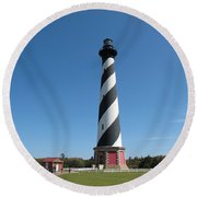 Hatteras Lighthouse Round Beach Towel