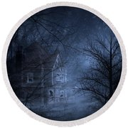 Haunted Place Round Beach Towel