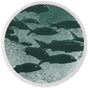 Hawaiian Goatfish School Round Beach Towel
