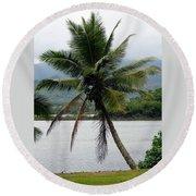 Hawaiian Palm Round Beach Towel