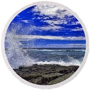 Hawaiian Surf Round Beach Towel