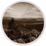 Hawk Mountain Sanctuary S Round Beach Towel