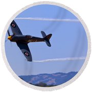 Hawker Sea Fury Round Beach Towel