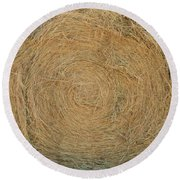 Hay Ball Round Beach Towel