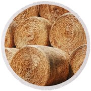 Hay There Round Beach Towel