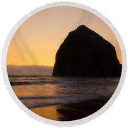 Haystack Reflections Round Beach Towel