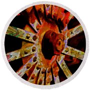 He Spoke Of Colours And Textures Round Beach Towel