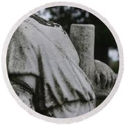 Headless Shepherd Round Beach Towel