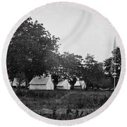 Headquarters - Army Of The Potomac - Fairfax Courthouse Virginia 1863 Round Beach Towel