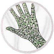 Healing Hands 1 Round Beach Towel
