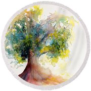 Heart Tree Round Beach Towel