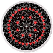 Hearts And Lace 2012 Round Beach Towel
