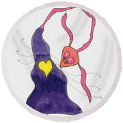 Heart's Delight Round Beach Towel