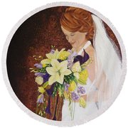 Heather's Special Day Round Beach Towel