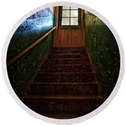 Heaven Is Closed Round Beach Towel by Nathan Wright