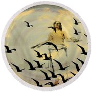 Heaven Sent Round Beach Towel by Bill Cannon