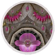 Heavenly Peace And A Roof Of Love Round Beach Towel