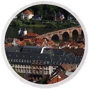 Heidelberg Germany Round Beach Towel