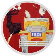 Held - Sheik And Sheba 1925 Round Beach Towel