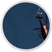 Helicopter With A Hook Round Beach Towel