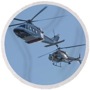 Helicopters Round Beach Towel