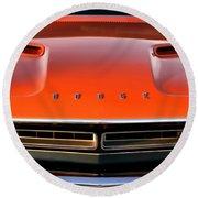 Hemi Orange 1971 Dodge Challenger Round Beach Towel