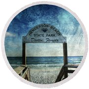 Henderson Beach State Park Florida Round Beach Towel