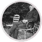 Henri Bergson (1859-1941) Round Beach Towel