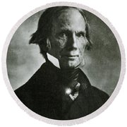 Henry Clay Sr., American Politician Round Beach Towel