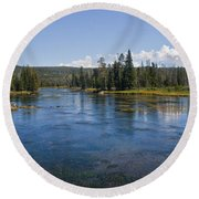 Henry Fork Of The Snake River Round Beach Towel