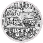 Henry Iv Of France Round Beach Towel