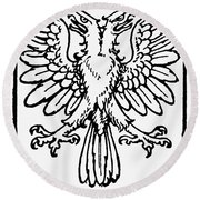 Heraldry: Birds Round Beach Towel