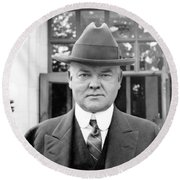 Herbert Hoover - President Of The United States Of America - C 1924 Round Beach Towel