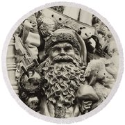 Here Comes Santa Claus Round Beach Towel by Bill Cannon
