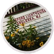 Hereford Lighthouse Lifeboat Round Beach Towel