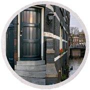 Herengracht 395 Bis. Amsterdam Round Beach Towel