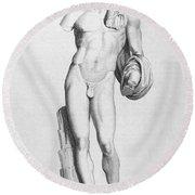 Hermes/mercury Round Beach Towel