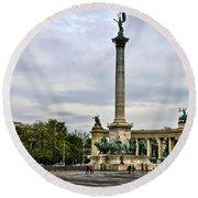 Heros Square - Budapest Round Beach Towel