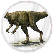 Herrerasaurus Ischigualastensis Round Beach Towel