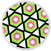 Hexagon Round Beach Towel by Louisa Knight